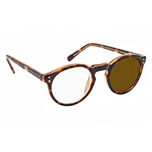 4X / +16 Diopter Magnifying Reading Glasses: Right Eye - Tortoise