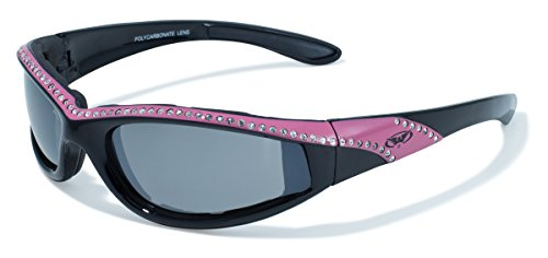 Global Vision Eyewear Black and Pink Frame Marilyn 11 Ladies Riding Glasses