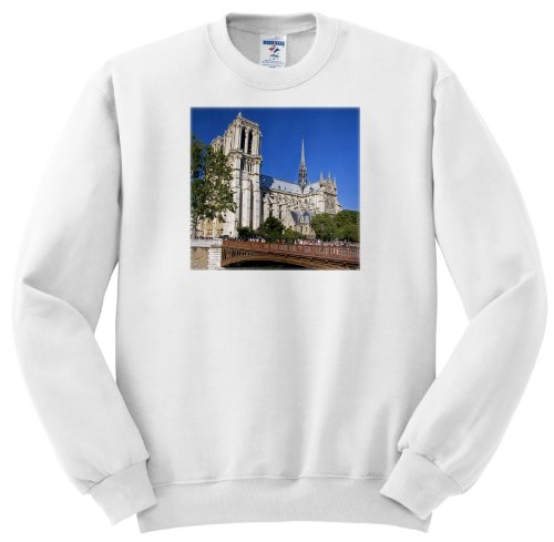 Notre Dame Cathedral, Seine, Paris, France - Eu09 Dfr0577 - David R. Frazier - Adult Sweatshirt Small
