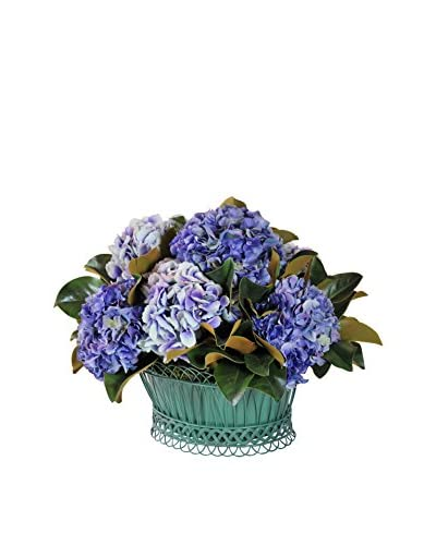 Winward French Hydrangea Basket, Blue/Purple