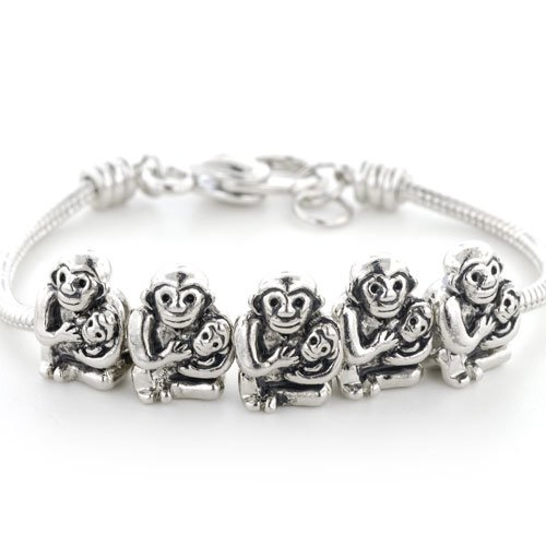 Pugster Monkey Baby Beads Fits Pandora Charms (Not Include Bracelet)