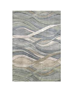 Amazon Com Znz Rugs Gallery 20049 4x6 Hand Made Silver