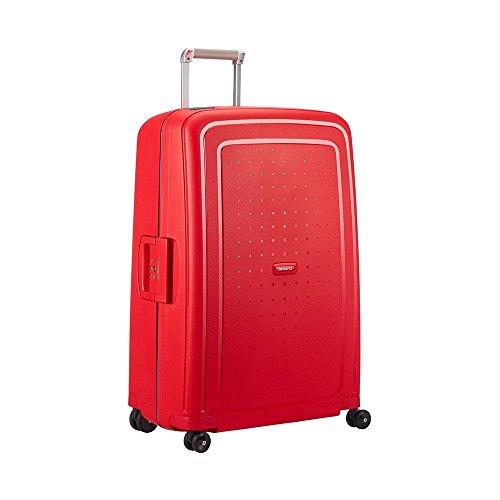 Samsonite S'Cure Spinner Valise de cabine 4 roulettes 55 cm poppy red