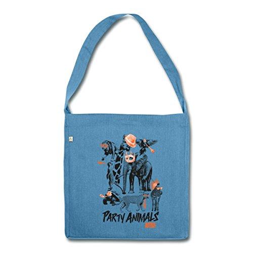 party-tiere-animal-planet-schultertasche-aus-recycling-material-von-spreadshirtr-blau-meliert