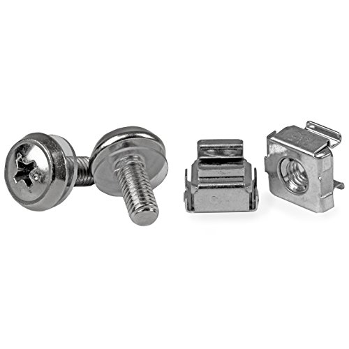 StarTech.com M5 Mounting Screws and Cage Nuts for Server Rack Cabinet - 50 Package (CABSCREWM5)
