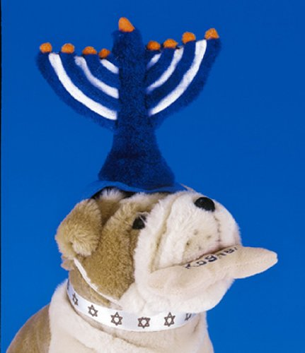 Plush Hanukkah Menorah Pet Hat