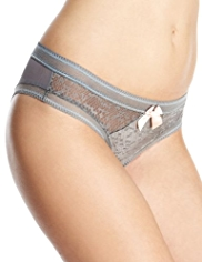 Limited Collection Frosted Textured Mesh Brazilian Knickers
