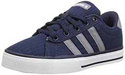 adidas NEO SE Daily Vulc K Kids Casual Footwear (Little Kid/Big Kid),Collegiate Navy/Grey/White,3 M US Little Kid