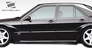 1986-1995 Mercedes Benz E Class W124 4DR Duraflex Evo 2 Wide Body Side Skirts Rocker Panels - 2 Piece