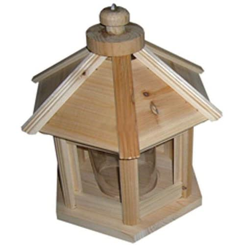 Hexagon Wooden Bird Feeder : Wild Bird Feeders : Patio, Lawn & Garden