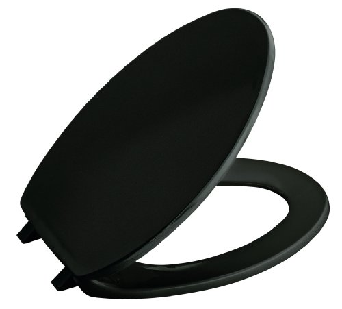 Check Kohler K 4664 7 Brevia Elongated Toilet Seat Black