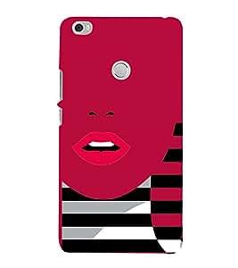 Sexi Lips Lipstick 3D Hard Polycarbonate Designer Back Case Cover for Xiaomi Mi Max