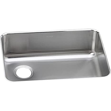 Elkay ELUH2317L Stainless Steel Left Drain Gourmet 18-3/4-Inch x 25-Inch Single Basin Undermount Stainless Steel Kitchen Sink