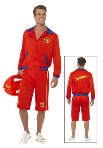 Baywatch Beach Men's Lifeguard Costume - Medium or Large