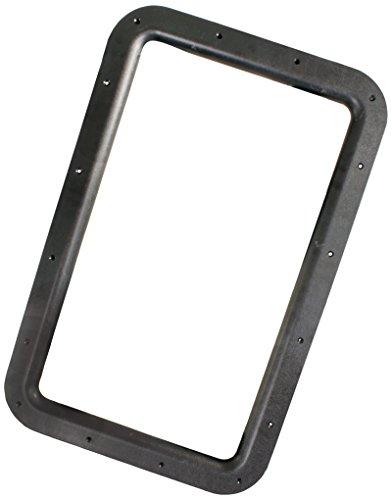 JR Products 11021 Black RV Deluxe Entry Door Window Frame (Rv Door Window compare prices)