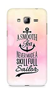 Amez A Smooth Sea Never made a Skillful Sailor Back Cover For Samsung Galaxy J3