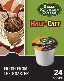 Green Mountain Coffee Half-Caff & Breakfast Blend Decaf Variety Pack 48 K-Cups For Keurig Brewers