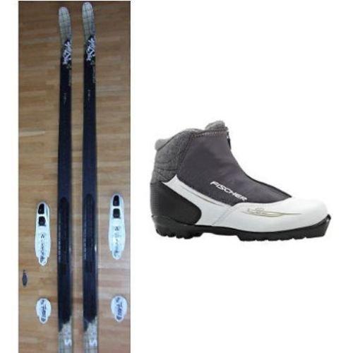 Langlaufski-Set Damen Fischer Cruiser MYSTIQUE Skier NIS + Bindung + Schuhe XC PRO MY STYLE