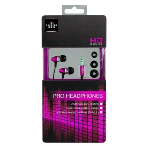 The Sharper Image Shp1103 Metal 3.5Mm Headset - Retail Packaging - Pink