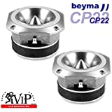 Beyma Cp22 1 Inch 8 Ohm 50 Watt RMS High Frequency Compression Bullet Tweeters