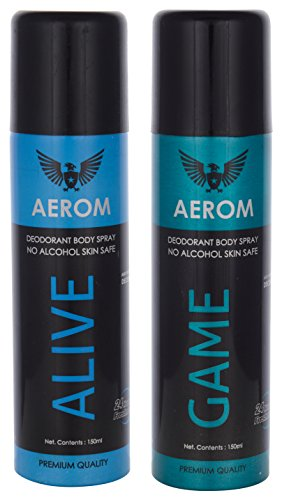 Aerom Alive And Game Deodorant Body Spray, 300 Ml (Pack Of 2)