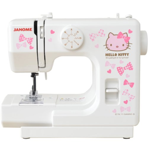 Janome-Hello-Kitty-compact-white-sewing-machine-KT-W