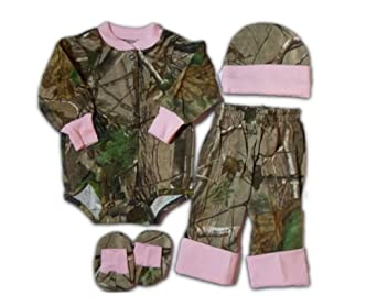 Amazon.com: Realtree Baby Set - Infant Girls APG LS Creeper Pants ...