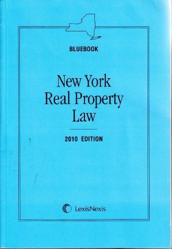 Bluebook New York Real Property Law (2010 Edition) Warren's Weed Pamphlet Edition