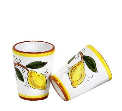 Toscana Limoncello Serving Set (6 Cups and Decanter)