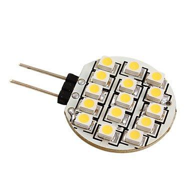 G4 3528 SMD 15-LED 0.36W warmes, weißes Licht Lampe für Auto (DC 12V)