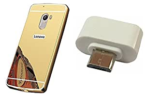 Novo Style Back Cover Case with Bumper Frame Case for Lenovo Vibe K4 note Golden +  Little Adapter Micro USB OTG to USB 2.0 Adapter for Smartphones & Tablets
