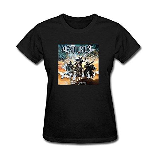 Women's Exmortus Band Logo Ride Forth Thrash Metal 2016 T-shirt XLarge