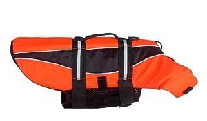 Dogline Pet Dog Safety Life Vest Jacket Preserver witgh reflective stripes and handle (6 sizes) Orange XL