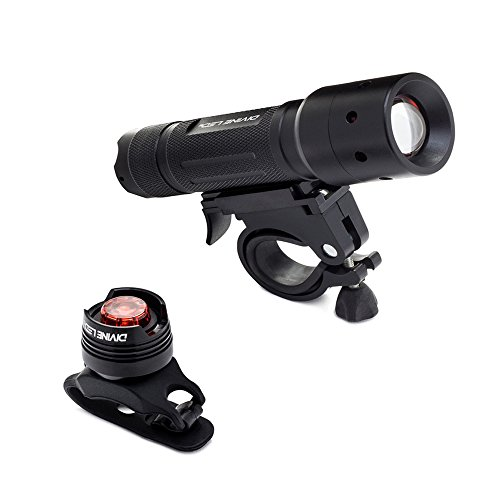 [Super Bright] Bike Light - Comes With FREE TAIL LIGHT(Limited Time)- Tools-Free Installation in Seconds - The Best Headlight on Amazon Compatible with: Mountain & Kids & Street Bicycles - Divine LEDs