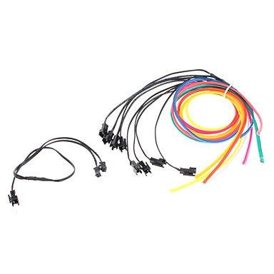 3 mètres Flexible voiture décoratifs Neon Light 4mm EL Wire Rope avec inverseur de voiture de lumière , Red