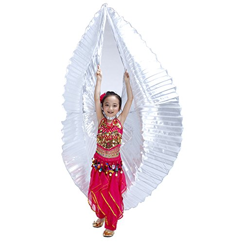 Dance Fairy Excellent Silver Belly Dance Isis Wings Dance Props(Children)