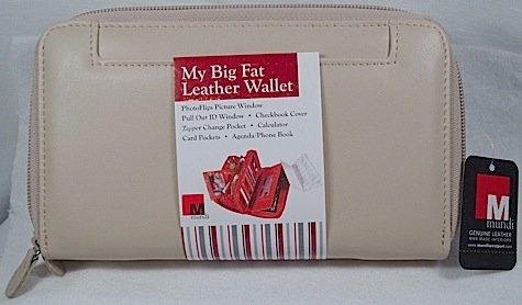 Mundi Leather Big Fat Wallet ~SeaStone