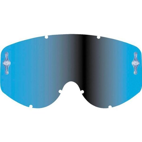 Scott Hustle/Tyrant Series Works Single Replacement Lens Off-Road/Dirt Bike Motorcycle Eyewear Accessories - Blue Chrome / One Size