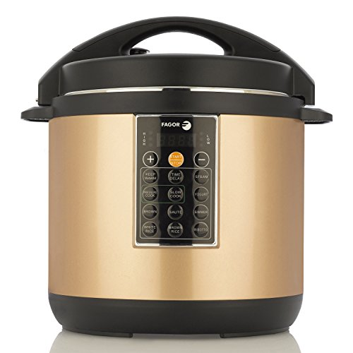 Fagor LUX Multi-Cooker, 8 quart, Copper - Electric Pressure Cooker, Slow Cooker, Rice Cooker, Yogurt Maker and more (935010053) (Copper Cooker compare prices)