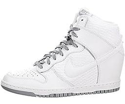 Nike Women\'s Dunk Sky Hi Essential White/White/Dove Grey/White Casual Shoe 8.5 Women US