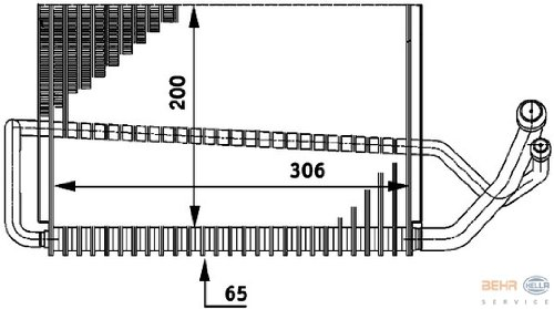 HELLA 8FV 351 211-291 Evaporateur climatisation
