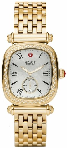 Michele Caber Isle Mother of Pearl Dial Gold