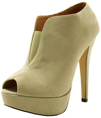 bottines talons aiguilles plateformes bout ouvert beige gr 41 chaussures et sacs. Black Bedroom Furniture Sets. Home Design Ideas