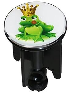 spirella frog king bouchon pour bonde de lavabo motif grenouille vert. Black Bedroom Furniture Sets. Home Design Ideas