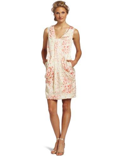 Anne Klein Women's Lion Print Dress, Papaya Multi, 4