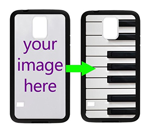 Fashion Design Piano Keyboard Personalized Custom Case For Samsung Galaxy S5 Case ( Laser Technology )Black / White Hard Plastic Samsung S5 Case
