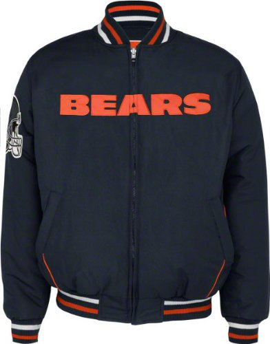 Chicago Bears Full-Zip Reversible Microfiber Varsity Jacket
