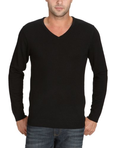 Selected Homme Tower merino v-neck Men's Jumper Black Small