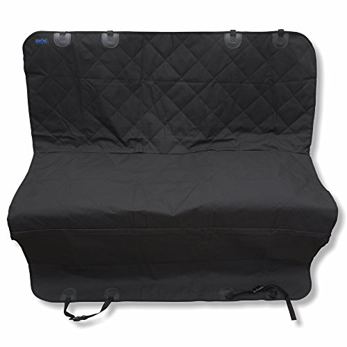 Dog Seat Cover: BlizeTec Hammock Style Pet Back Seat Protector; Nonslip & Waterproof; Universal Fit for Car, SUV and Truck