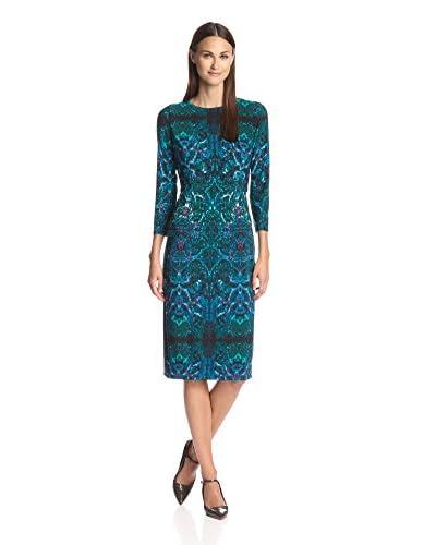 London Times Women's Printed Sheath Dress